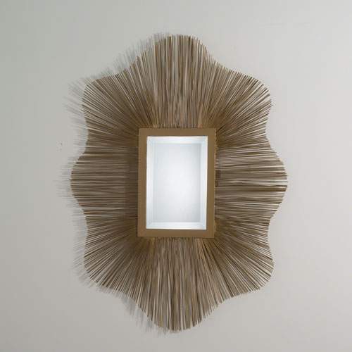 Global Views Studio A Venice Antique Gold and Brass Wire Mirror