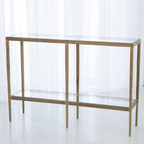 Studio A Laforge Antique Gold Console