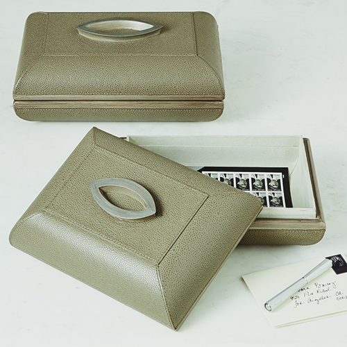 Studio A Churchill Large Grey Box with Oval Handle