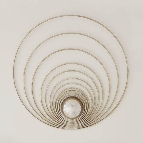 Radial Silver Leaf Sphere Panel