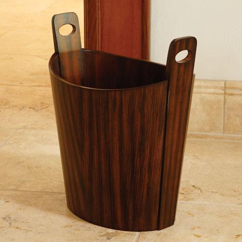 Zebra Wood Wastebasket