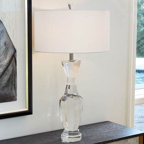 Crystal Clear Urn Lamp