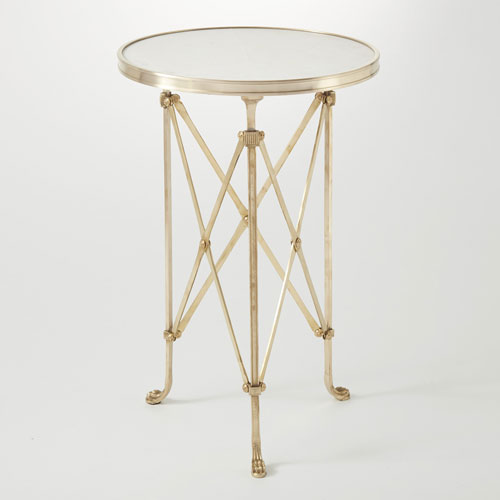 Directoire Brass and White Granite Table