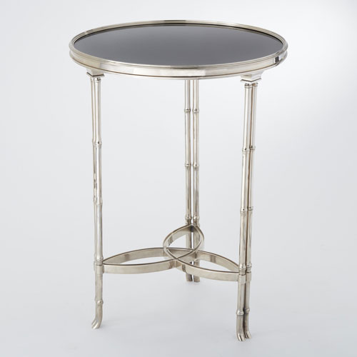 Charmant Global Views Double Bamboo Leg Nickel And Granite Accent Table