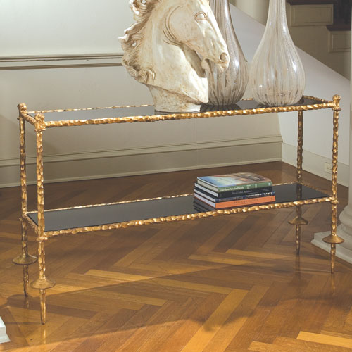 Gold Metal Console Table Bellacor