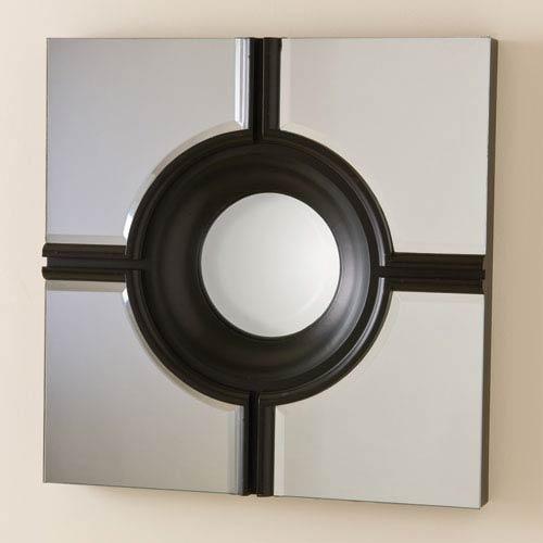 Bulls Eye Black Cross Mirror