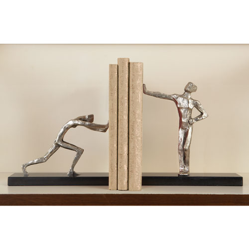 Blockhead Pair of Bookends