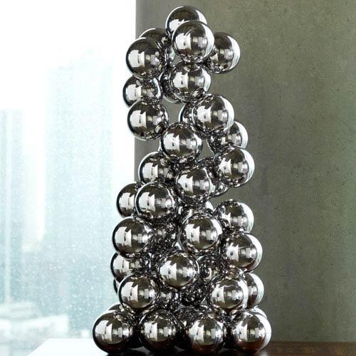 Global Views Sphere Nickel Sculpture