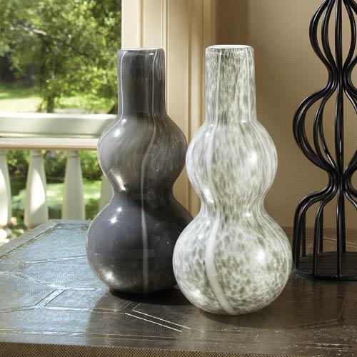 Global Views Two Bubble Dark Gray Vase
