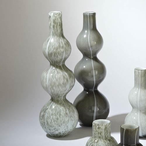Three Bubble Light Gray Vase