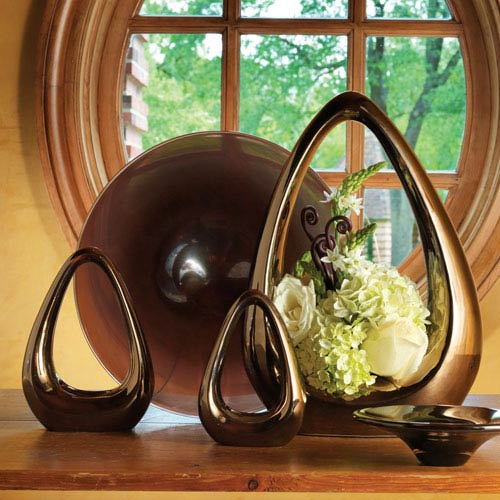Global Views Carry About Bronze Large Vase