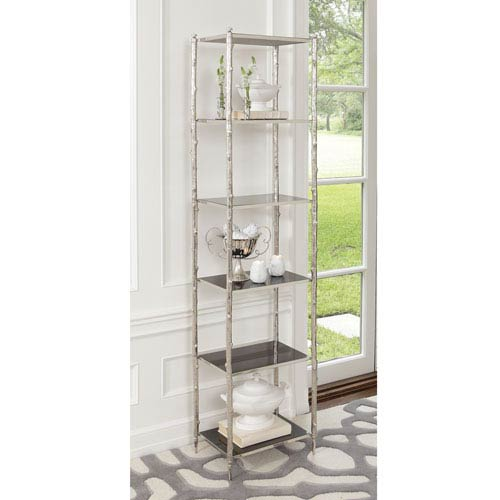 Nickel and Black Granite Arbor Etagere