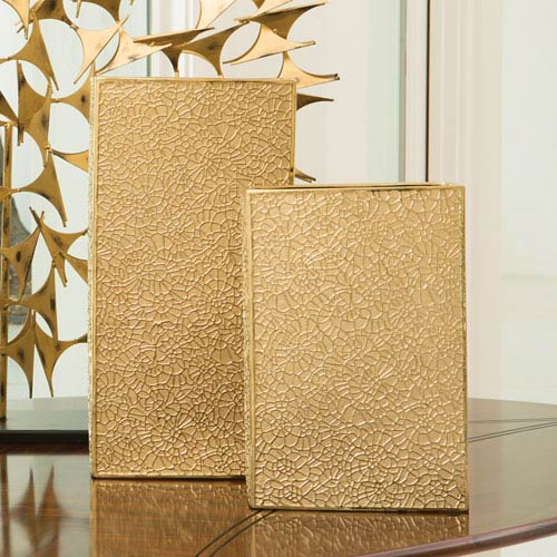 Global Views Organic Lace Gold Large Vase