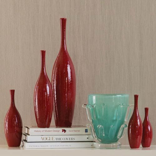 Global Views Juggler Large Red Vase 882111 Bellacor