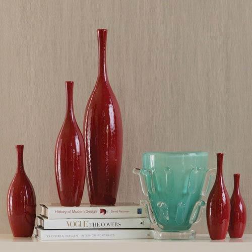 Global Views Juggler Large Red Vase 882112 Bellacor