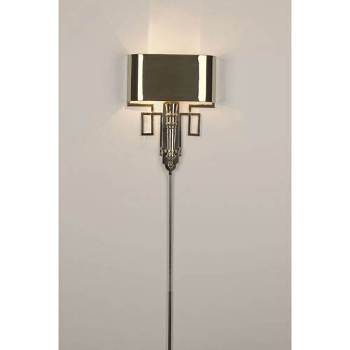 Hardwired Nickel Torch Two-Light Sconce