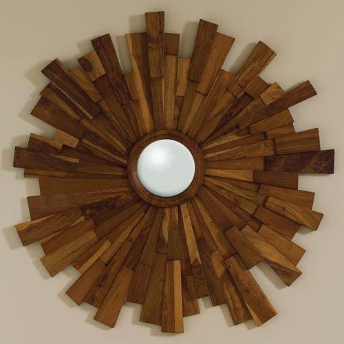 Global Views Industrial Wooden Mirror