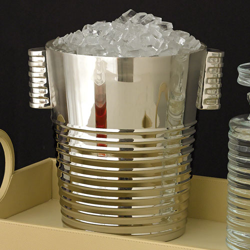 Ribbed Nickel Ice Bucket