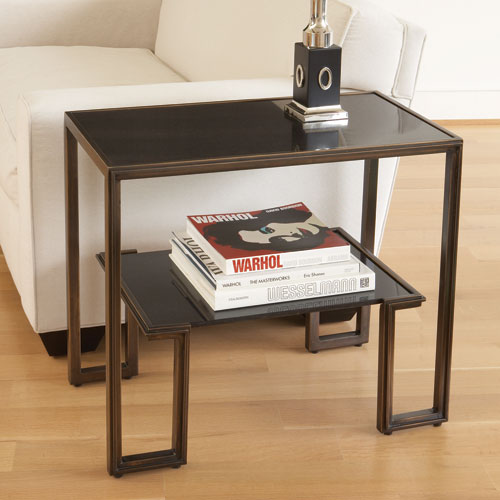One-Up Bronze End Table