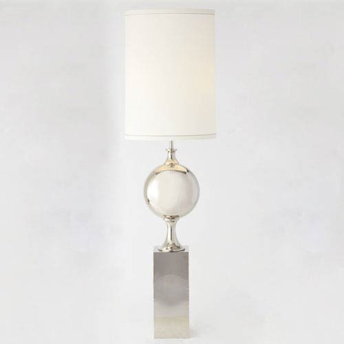 Big Pill Nickel Two-Light Lamp