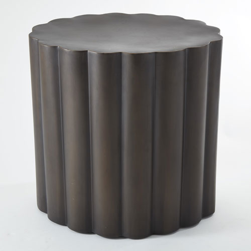 Fluted Antique Bronze Table