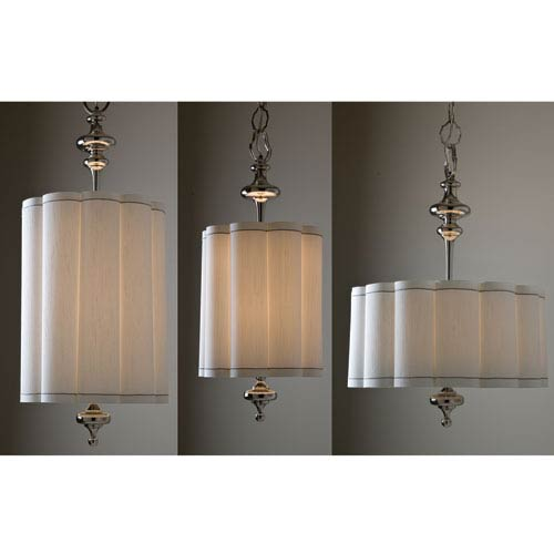 Fluted Wide Nickel Four-Light Pendant