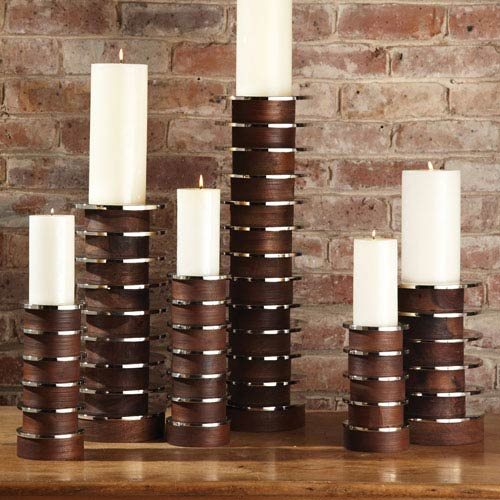 Global Views Stacked Large Candleholder Plate
