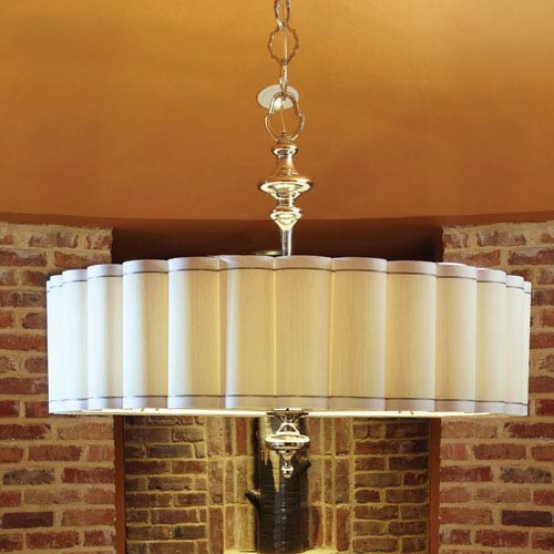 Fluted Enormous Six-Light Pendant