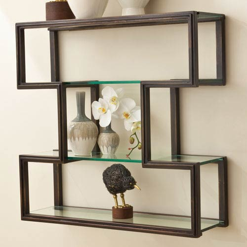 One Up Bronze Wall Shelf