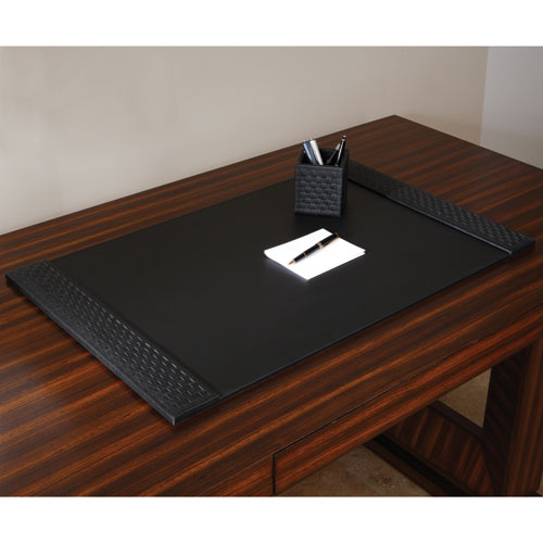 Woven Black Desk Blotter