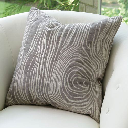Faux Bois Gray Pillow