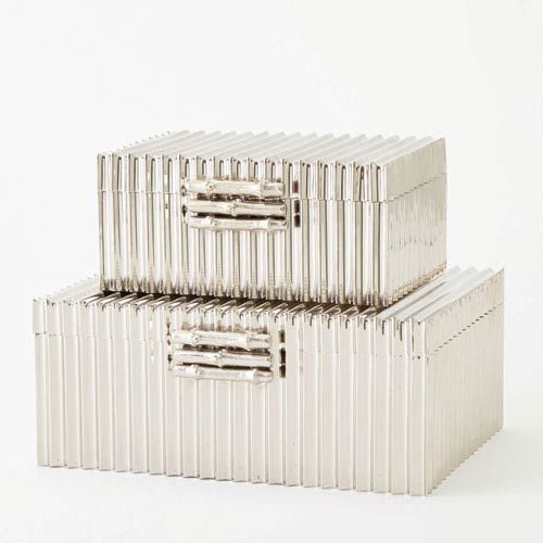 Corrugated Nickel Large Bamboo Box