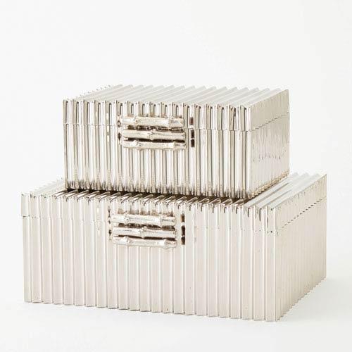 Corrugated Nickel Small Bamboo Box
