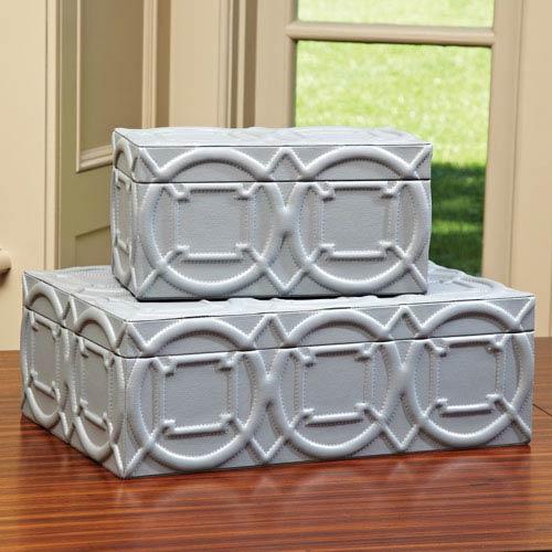 Arabesque Gray Small Trapunto Box