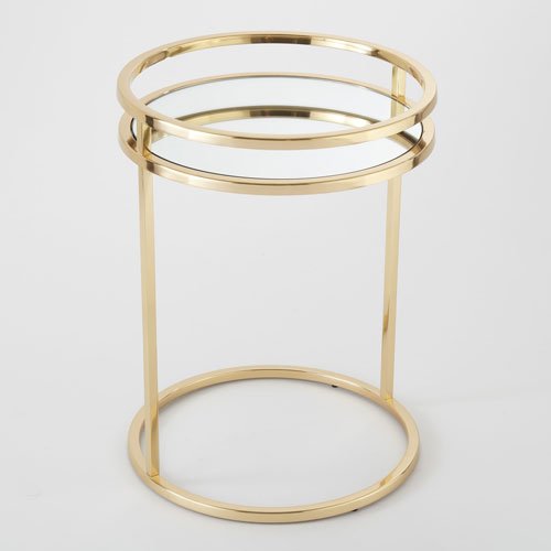 Global Views Ring Brass End Table