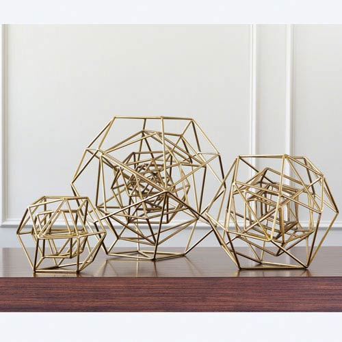 Global Views Geo Gold Small Sculpture