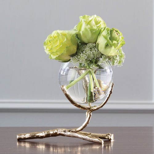 Twig Brass Vase Holder