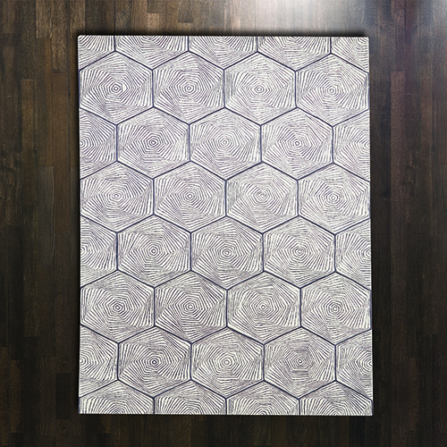 Hex Swirl Rectangular: 5 Ft. x 8 Ft. Area Rug