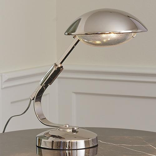 Gordon Nickel Extendable One-Light Desk Lamp