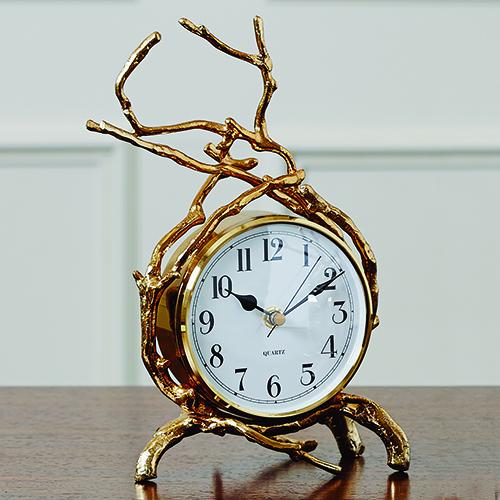 Brass Twig Clock