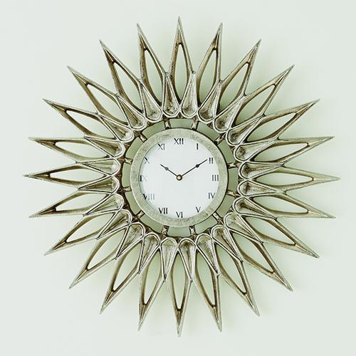 Dahlia Nickel Wall Clock