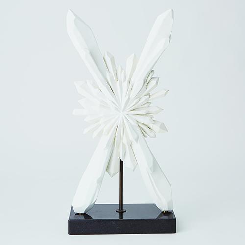 Facet White Starburst Sculpture