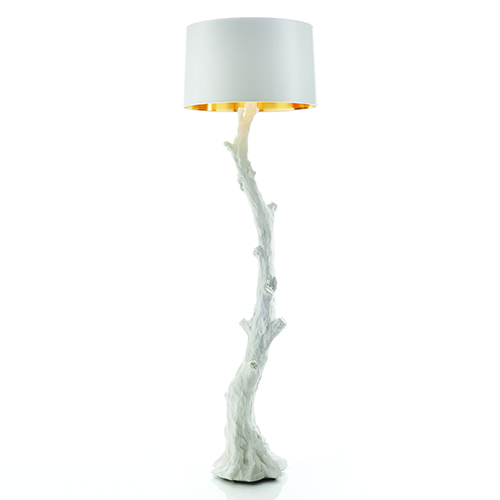Faux Bois White Floor Lamp