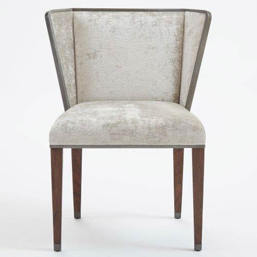 Superbe Global Views Argento Crushed Velvet Chair