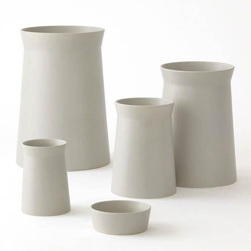 Soft Curve Haze Large Vase