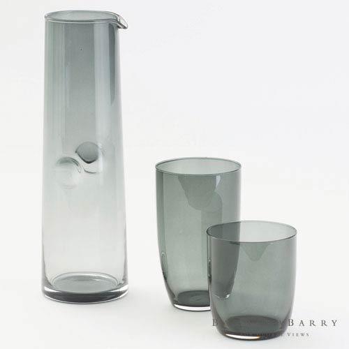 Global Views Solstice Short Deep Shadow Glassware, Set of Four