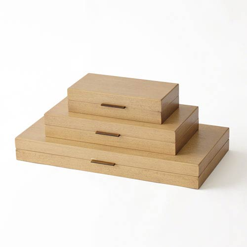 Luxe Bleached Walnut Small Organizer
