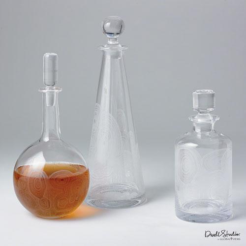 Malachite White Cylinder Decanter