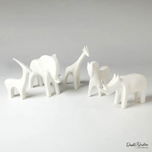 Global Views Matte White Antelope