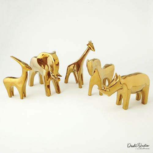 Global Views Horse-Bright Gold